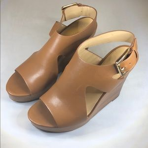 (p248) Michael Michael Kors Wedge Sandals 8M